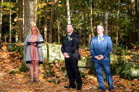Kyle and Kylie Wood's small ceremony at Dunhams Bay in Lake George